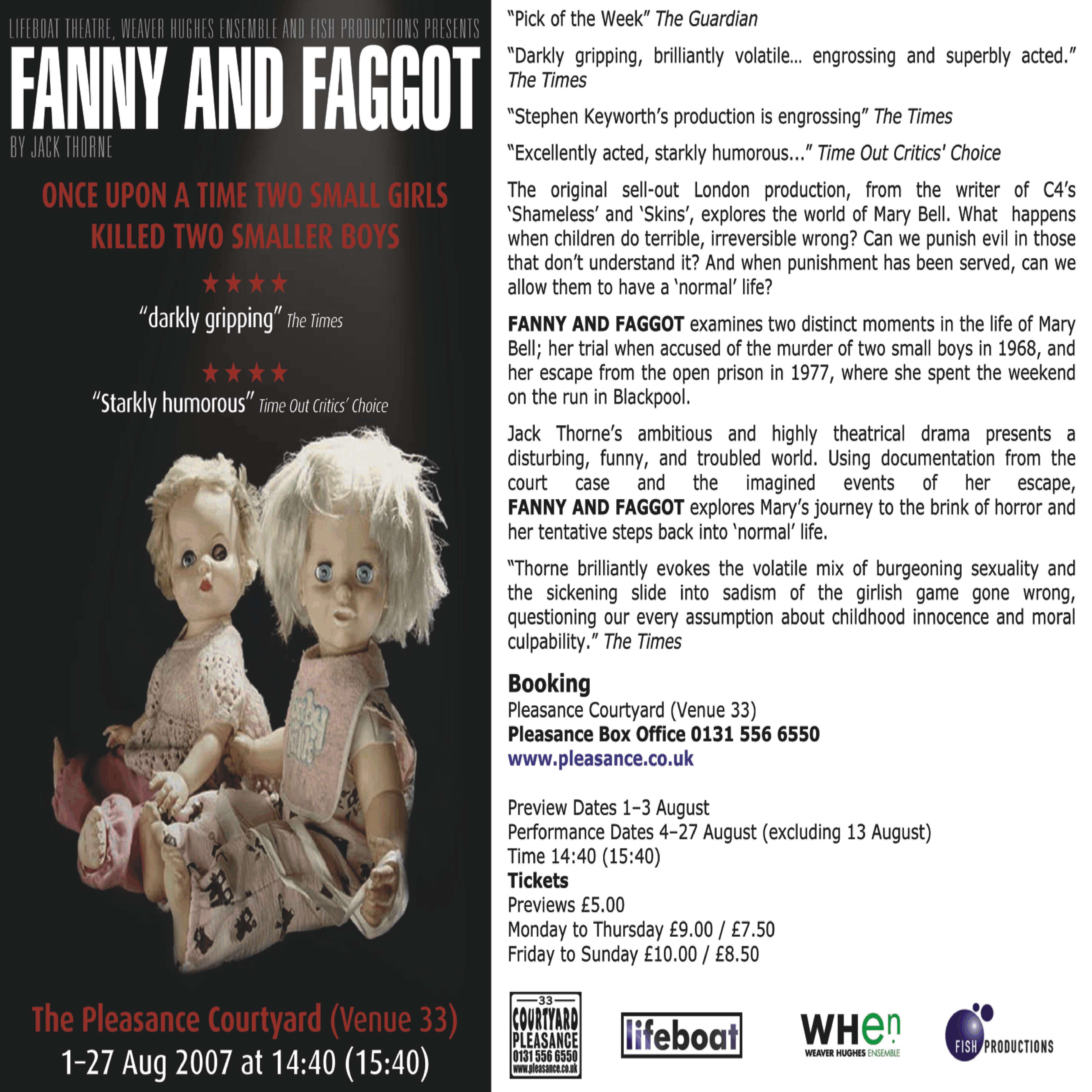 Fanny & Faggot flyer