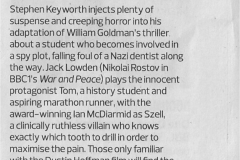 Marathon Man - Observer review