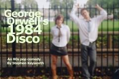 George Orwell's 1984 School Disco poster